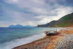 Barco de la cara de mar Imagen de archivo