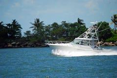 Barco de la carta de la pesca deportiva Imagen de archivo libre de regalías