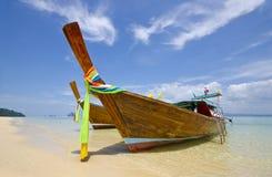 Barco de la cola larga en la provincia de Trang, Tailandia Imágenes de archivo libres de regalías