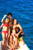 Barco de la familia Foto de archivo libre de regalías