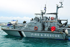 Barco de la lucha contra el fuego Foto de archivo
