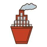 Barco de la nave con aceite de los barriles ilustración del vector