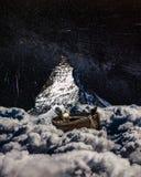 Barco de la nube con el gato fotografía de archivo
