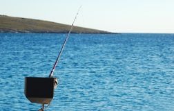 Barco de la pesca deportiva para la pesca de gran juego fotografía de archivo