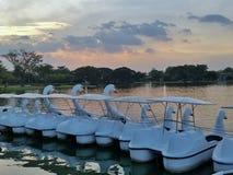 Barco de la piscina del parque Rama9 Foto de archivo