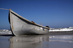 Barco de la playa fotografía de archivo