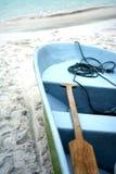 Barco de la playa Imagenes de archivo