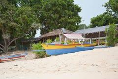 Barco de la playa Fotos de archivo