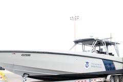 Barco de la protección de la frontera de los E.E.U.U. Fotografía de archivo