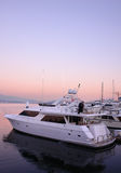 Barco de la puesta del sol Imagen de archivo