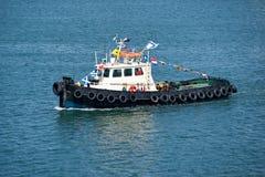 Barco de la remolque Fotos de archivo libres de regalías