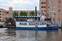 Barco de la rueda de paleta en Norfolk, Virginia Imagen de archivo