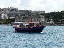 Barco de la travesía en Malta imagen de archivo libre de regalías