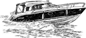 Barco de la velocidad stock de ilustración
