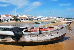 Barco de las casas y de pesca (España) Fotos de archivo libres de regalías