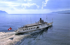 Barco de Leman Fotos de archivo