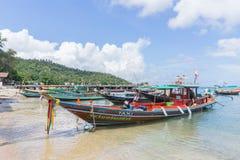 Barco de Longtail en Koh Tao, Tailandia fotografía de archivo