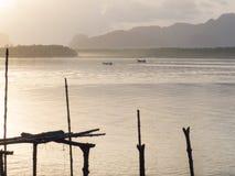Barco de Longtail en Samchong-tai, Phang, Tailandia Fotografía de archivo libre de regalías