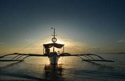 Barco de los pescadores tropicales Imagenes de archivo