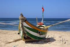 Barco de los pescados de Xavega Foto de archivo libre de regalías