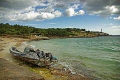 Barco de los tráficos de droga Imagen de archivo libre de regalías