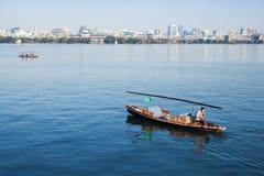 Barco de madeira da recreação do chinês tradicional Imagem de Stock Royalty Free