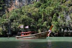 Barco de madeira, Tailândia Imagem de Stock