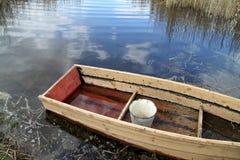 Barco de madeira velho Fotografia de Stock