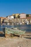 Barco de madera arruinado Chania Foto de archivo libre de regalías