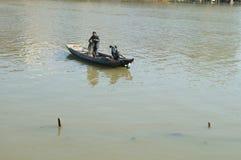 Barco de madera del pescador Fotos de archivo