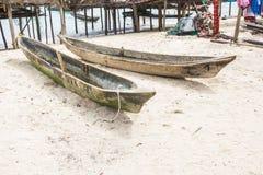 Barco de madera local Isla de Surin Fotos de archivo