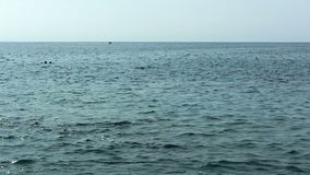 Barco de mano lento Kona Hawaii de Pan Of Ocean With Motor almacen de metraje de vídeo