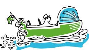 Barco de motor ilustração royalty free