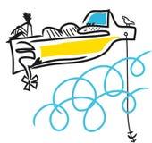 Barco de motor ilustração do vetor