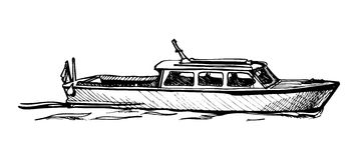 Barco de motor. Foto de Stock Royalty Free