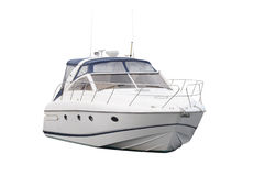 Barco de motor Foto de archivo libre de regalías