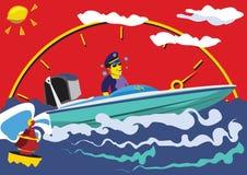 Barco de motor imágenes de archivo libres de regalías