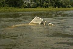 Barco de motor afundado Imagem de Stock Royalty Free