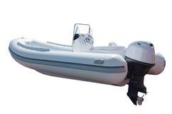Barco de motor con el motor Imágenes de archivo libres de regalías