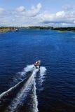 Barco de motor da ação foto de stock royalty free