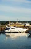 Barco de motor de lujo Fotografía de archivo libre de regalías