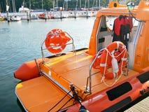 Barco de motor del rescate Fotografía de archivo libre de regalías