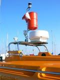 Barco de motor del rescate Foto de archivo libre de regalías