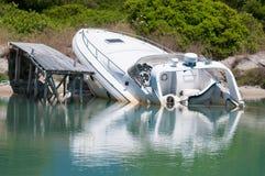 Barco de naufrágio Fotos de Stock