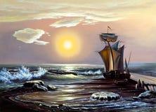 Barco de navegación Libre Illustration