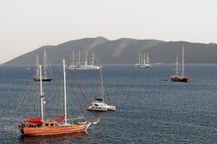 Barco de navegación en Bodrum Foto de archivo libre de regalías
