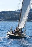 Barco de navigação antigo durante uma regata no clássico Yac de Panerai Fotografia de Stock