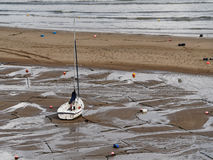 Barco de navigação, cais novo Fotografia de Stock