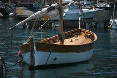 Barco de navigação de madeira fotografia de stock