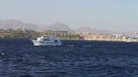 Barco de navigação no Mar Vermelho vídeos de arquivo